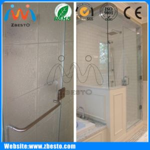 Custom Made Cheap Tempered Safety Shower Sliding Door Glass Slab pictures & photos