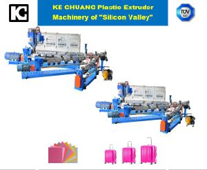 High Quality Luggage ABS PC PP PE Twin Screws Extrusion Sheet Machine pictures & photos
