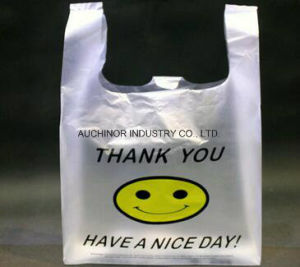 Printed Recyclable HDPE T-Shirt Singlet Vest Carrier Shopping Bags for Superstores pictures & photos