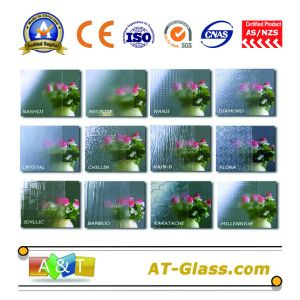 3~8mm Patterned Glass for Bathroom Window Furniture pictures & photos