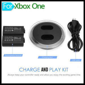 Two 2800mAh Battery Kit for xBox One Wireless Controller pictures & photos
