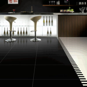 Super Black Polished Porcelain Tile pictures & photos