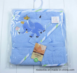 Wholesale Cotton Hooded Bath Towel and Wash Cloth Set pictures & photos