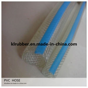 High Quality Bluish Clear PVC Fiber Braided Hose pictures & photos