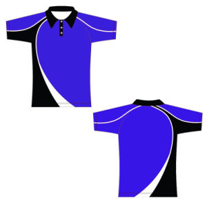 Blue and Black Color Golf Sports Polos for Summer pictures & photos