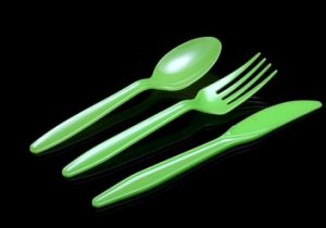 Plastic Disposable Cutlery Jx143 pictures & photos