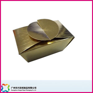 Folding Packaging Box Made of Gold Card (XC-3-006) pictures & photos