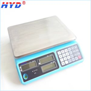 Haiyida Dual Power Electronic Balance with LCD Display Screen pictures & photos