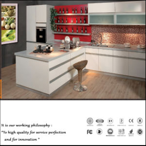 White UV Plain Colour High Glossy Kitchen Cabinet (ZH0987) pictures & photos