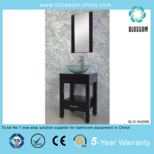MDF Body Ceramic Basin Silver Mirror Bathroom Vanity (BLS-NA088) pictures & photos