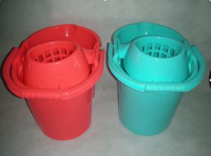 Plastic Cheap Household Cleaning Tool Mop Bucket with Sieve (YYMB-16) pictures & photos