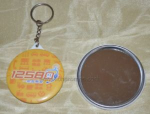 Telecome Cheap Promotional Gift Keyring Metal Make up Mirror pictures & photos