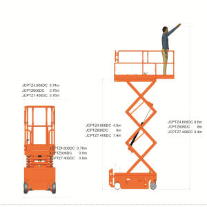 7.4m Electric Scissor Lift (JCPTZ7.406DC) pictures & photos
