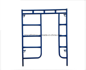 Powder Coated Painted Walk Through Frame H Scaffolding Made in China for Sales pictures & photos