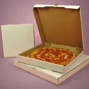 White Corrugated Paper Pizza Boxes pictures & photos