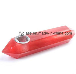 Red Fused Crystal Smoking Pipe pictures & photos