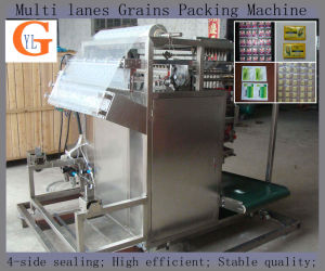 Multi-Lane 4-Side Sealing Soybean/Beans Packing Machine pictures & photos