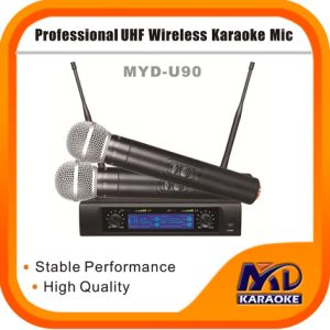 Dual Channels High Quality UHF Wireless Karaoke Microphone