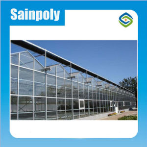 Sainpoly Hot Sale High Transmissivity Glass Greenhouse pictures & photos