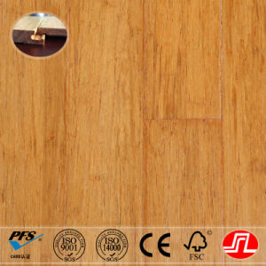 Golden Wheat Color Valinge Strand Woven Bamboo Flooring