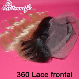 New Arrival 8A Ombre 360 Full Lace Frontal Closure Malaysian Virgin Hair Body Wave #1b/613 pictures & photos