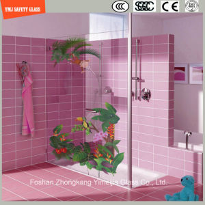 High Quality 3-19mm Digital Paint/ Silkscreen Print/Acid Etch/Pattern Flat/Bent Tempered/Toughened Glass for Wall/Shower/Partition with SGCC/Ce&CCC&ISO pictures & photos