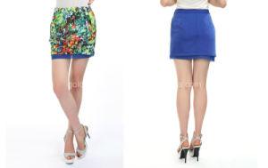 2015 Popular Flower Printed Ladies Fashion Short Skirt (60615203077)
