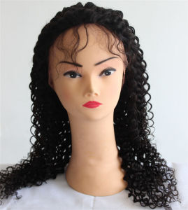 Glueless Curly 100% Remy Hair Lace Front Human Hair Wig pictures & photos