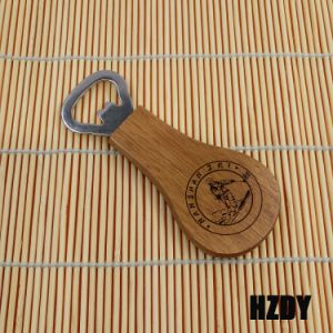 Beer Wood Bottle Opener with Pear-Shaped pictures & photos