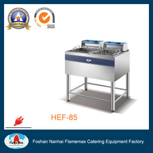 2 Tank 2 Basket Electric Chip Deep Fryer (HEF-85) pictures & photos