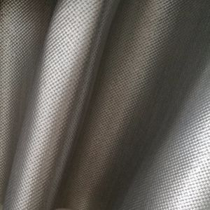 PVC Leather Gray Printing Silver Shoe Leather pictures & photos