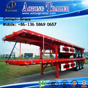 China Factory 2 Axle -3 Axles 20FT - 53FT Flatbed Trailer with Container Twist Locks pictures & photos