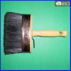 Black Bristle Ceiling Paint Brush with Wooden Handle (THB-002) pictures & photos