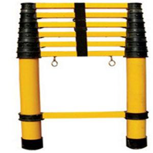 220kv 300lbs Yellow 4m Fiberglass Telescopic Ladder pictures & photos