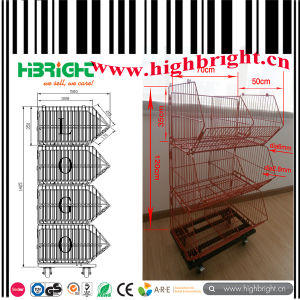 Metal Grid Wire Mesh Stackable Bakest Stand pictures & photos