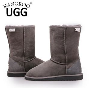 Winter Men Casual Shoes Sheepskin Boots in Grey pictures & photos