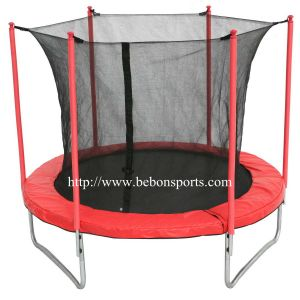 8ft Round Trampoline with Safety Net (red) 083248s2n