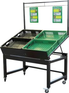 Supermarket Steel Vegetable and Fruit Display Rack pictures & photos