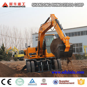 12 Ton Hydraulic Wheel Excavator with 0.45cbm Bucket for Sale pictures & photos