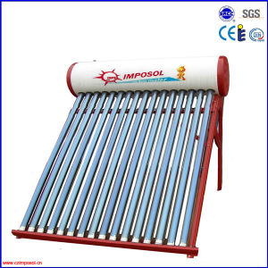 Compact Non-Pressure Vacuum Tube Solar Water Heater 200L pictures & photos