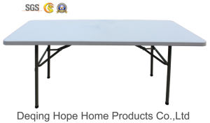 5ft Plastic Folding Table/Outdoor Furniture/Solid Table (HP-152C)