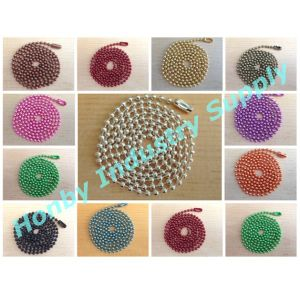 Wholesale for Decorating 2.4mm Colored Metal Ball Bead Chain