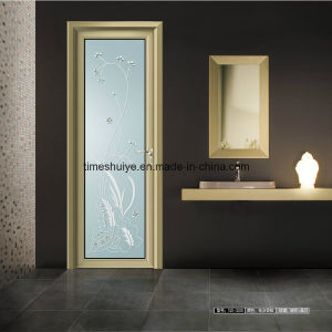 Aluminum Casement Doors for Interior Decoration with Ornamental pictures & photos