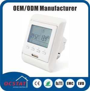 7 Day Programmable 6 Time & 6 Temp Per Day 230V AC External Temperature Sensor Thermostat pictures & photos
