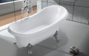 Acrylic Freestanding Bathtub Wood Legs, Waste Included pictures & photos