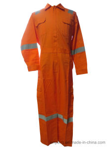 Adults Breathable 100%Cotton 180GSM Coverall with Reflective Tape pictures & photos