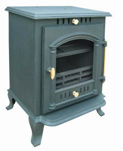 Decorative Wood Burning Cast Iron Stove with Oven pictures & photos