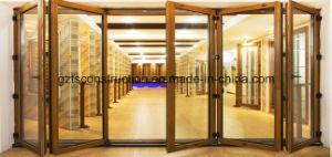 Aluminium-Wood Composite Double Glazing Folding Door pictures & photos