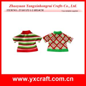 Christmas Decoration (ZY16Y172-1-2 18X14CM) Christmas Wine Sweater pictures & photos