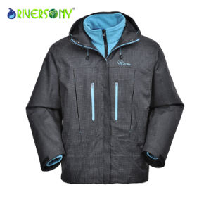 3 in 1 Outdoor Jacket with Waterproof Zipper for Man pictures & photos